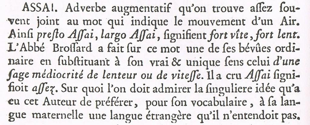 Jean Jacques Rousseau. Dictionnaire de Musique. 1768.