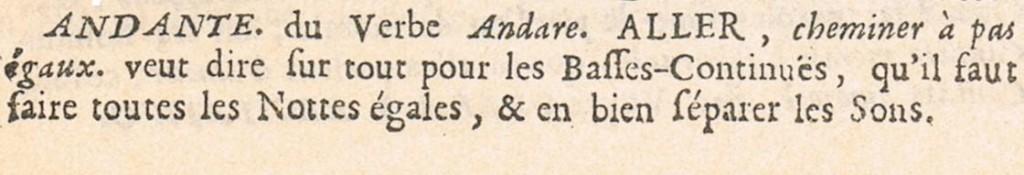 Sébastien de Brossard. Dictionaire de Musique. 1703.